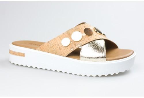 TAMARIS dámský pantofel 27212-28 gold/cork