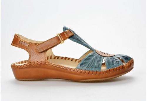 PIKOLINOS dámský sandál P.Vallarta 655-0575 petrol/brandy