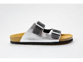 BIO LIFE zdravotní pantofle dámská Lena 206 silver