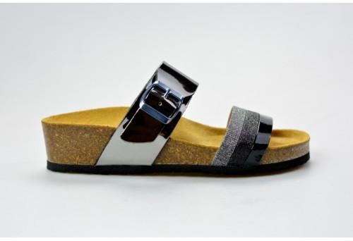 BIO LIFE zdravotní pantofle dámská Amari 1587.01 černá/antracit