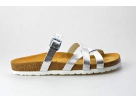 BIO LIFE zdravotní pantofle dámská Lia 1509.11 stříbrná