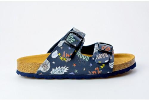 BIO LIFE zdravotní pantofle dětská 0003 Dorian modrá