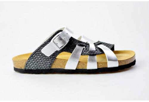 BIO LIFE zdravotní pantofle dámská 00217 VALERIA stříbrná