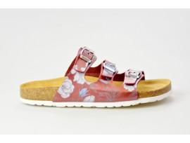 BIO LIFE zdravotní pantofle dámská Laura 0001 bordo