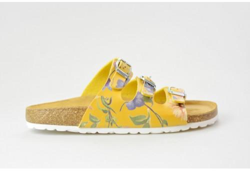 BIO LIFE zdravotní pantofle dámská Laura 0001 žlutá