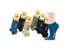 BAMBUSOVÁ ponožka nízká sneakers SOCKS 4 YOU 2167 béžová