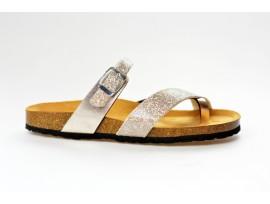 BIO LIFE zdravotní pantofle dámská 468 Bolero bílá/stříbrná