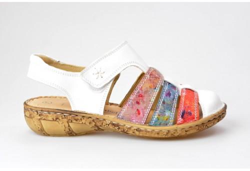 COMFORTABEL dámský sandál 720109-3 bílá/mix