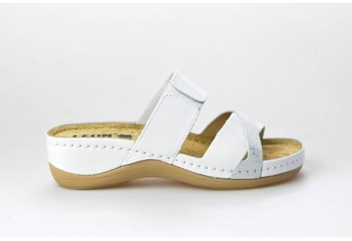 LEONS dámská pantofel relaxační Silver 909 bílá