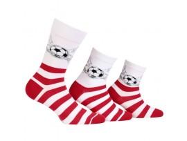 Ponožka pánská mundial Wola W94. 993 červeno/bílá
