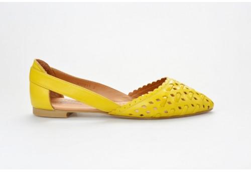 PIAZZA dámská letní balerínka 830211-6 žlutá