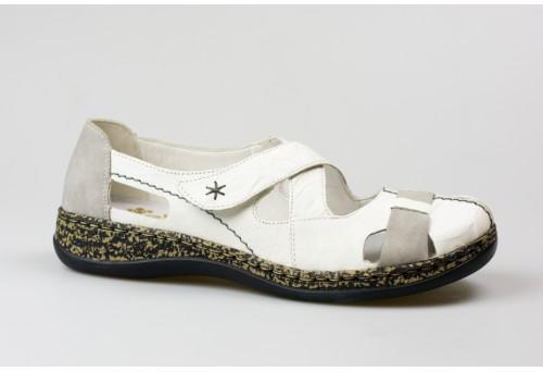 RIEKER dámský sandál 46367-80 bílá