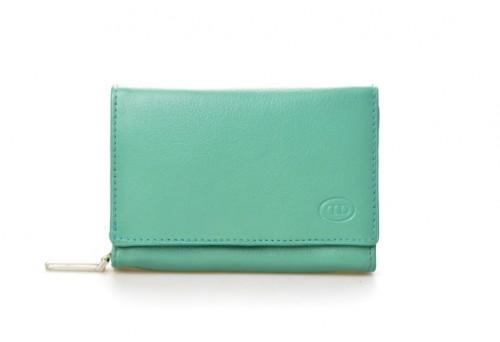 DD peněženka dámská kožená B 07-19 tyrkysová