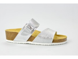 BIO LIFE zdravotní pantofle dámské 1802 Beata 341 stříbrná