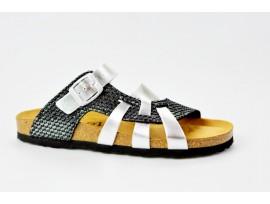 BIO LIFE zdravotní pantofle dámská 0004 Valerie stříbrná