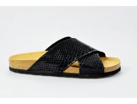 BIO LIFE zdravotní pantofle dámské 1121 Roxana černá/kroko