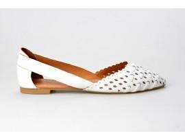PIAZZA dámská letní balerínka 830229-3 bílá