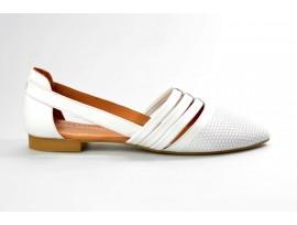 PIAZZA dámská letní balerínka 830228-3 bílá