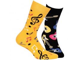 Ponožka pánská muzika Wola Funky W94. 087 černo/žlutá