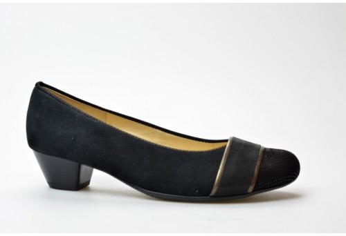 ARA dámská lodička 12-43637-11 černo/bronze šíře H