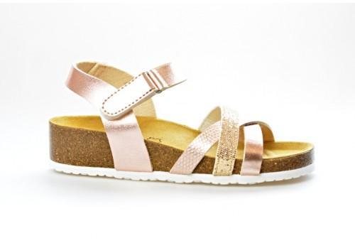 SALAMANDER zdravotní sandál na klínku 32-13103-33 šíře G růžová/perleť