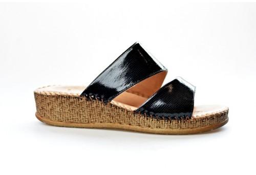 SALAMANDER dámská pantofle 32-40505-31 černá/lak