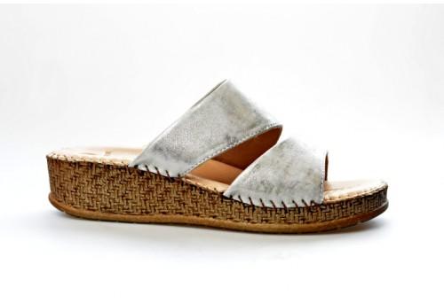 SALAMANDER dámská pantofle 32-40505-25 stříbrná
