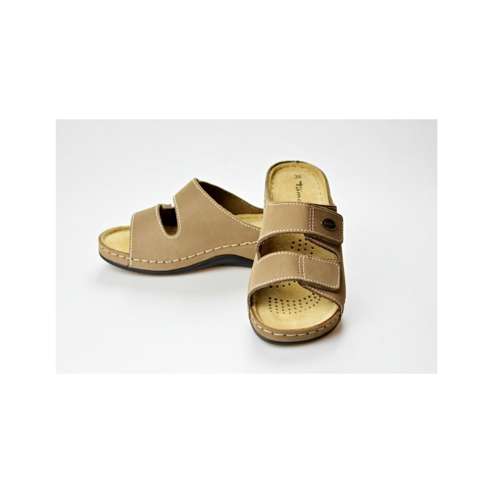 TAMARIS dámská pantofle 27510-20 béžová 8d6ae9b643d