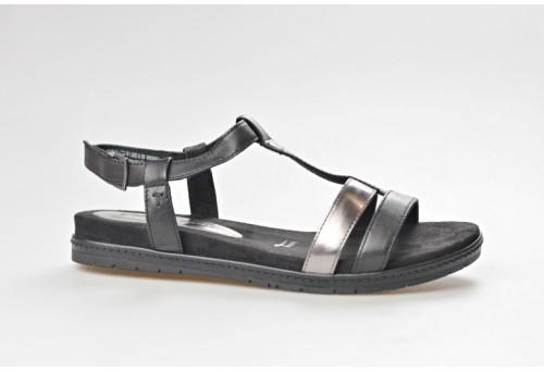 TAMARIS dámský sandál 28603-20 black/pewter