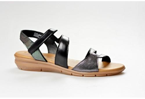 TAMARIS dámský sandál 28711-20 black/metal