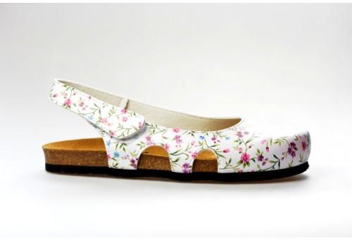 BIO LIFE zdravotní pantofle dámská 837 Riva bílá