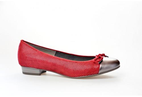 ARA dámská balerínka 12-33760-04 červená šíře F