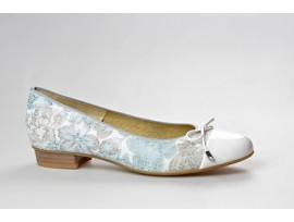 ARA dámská balerínka 12-33760-96 bílo/aqua šíře F-