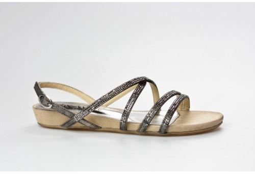 S.OLIVER dámský sandál 28111-20 černá metalic