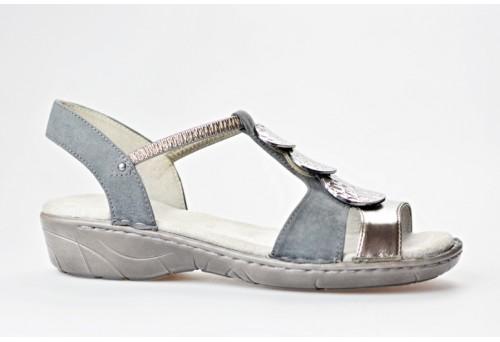 JENNY dámský sandál 22-57287-75 antracit šíře G
